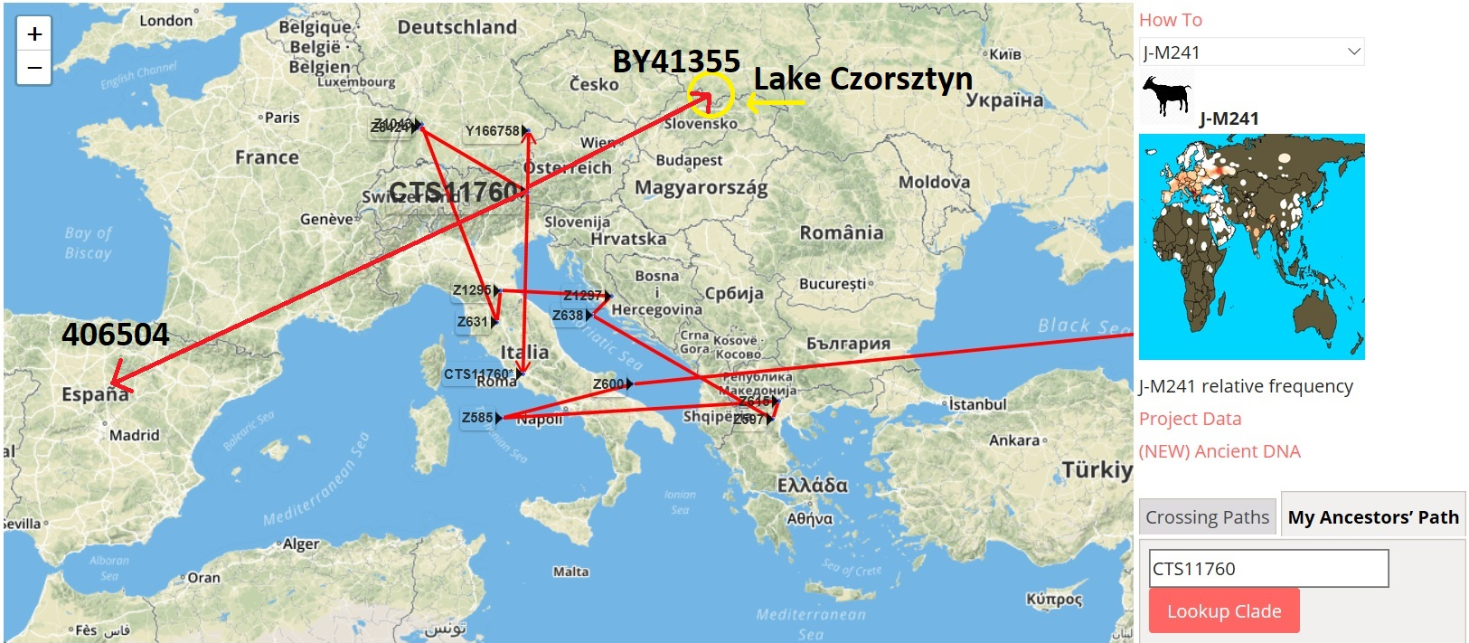 J-CTS11760 Distribution Fits Celtic Pattern in Central Europe